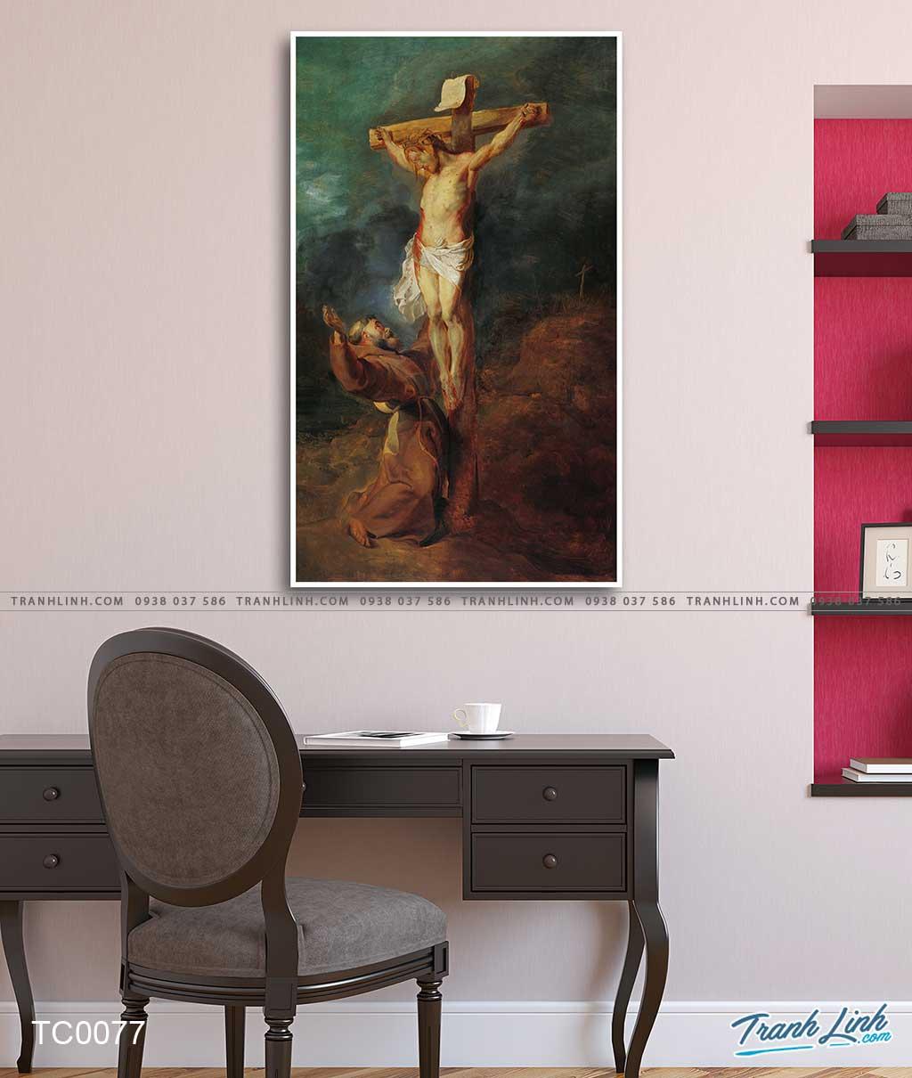 tranh canvas thanh phanxico assisi