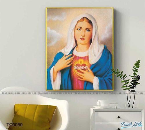 tranh canvas trai tim me maria 2