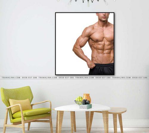 tranh canvas phong gym 4