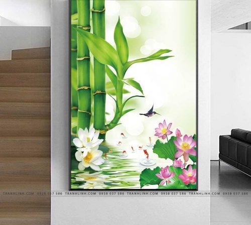 tranh canvas cay tre 10