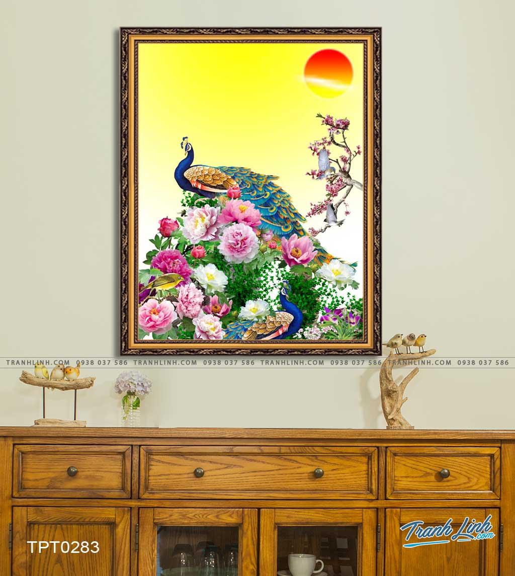 tranh canvas chim cong vuong gia 16