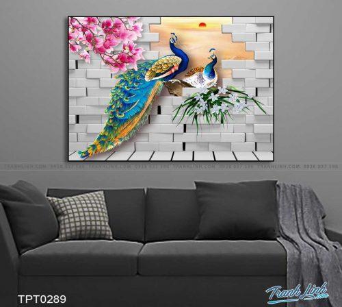 tranh canvas chim cong vuong gia 21
