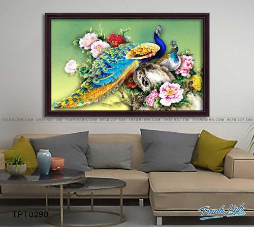 tranh canvas chim cong vuong gia 22