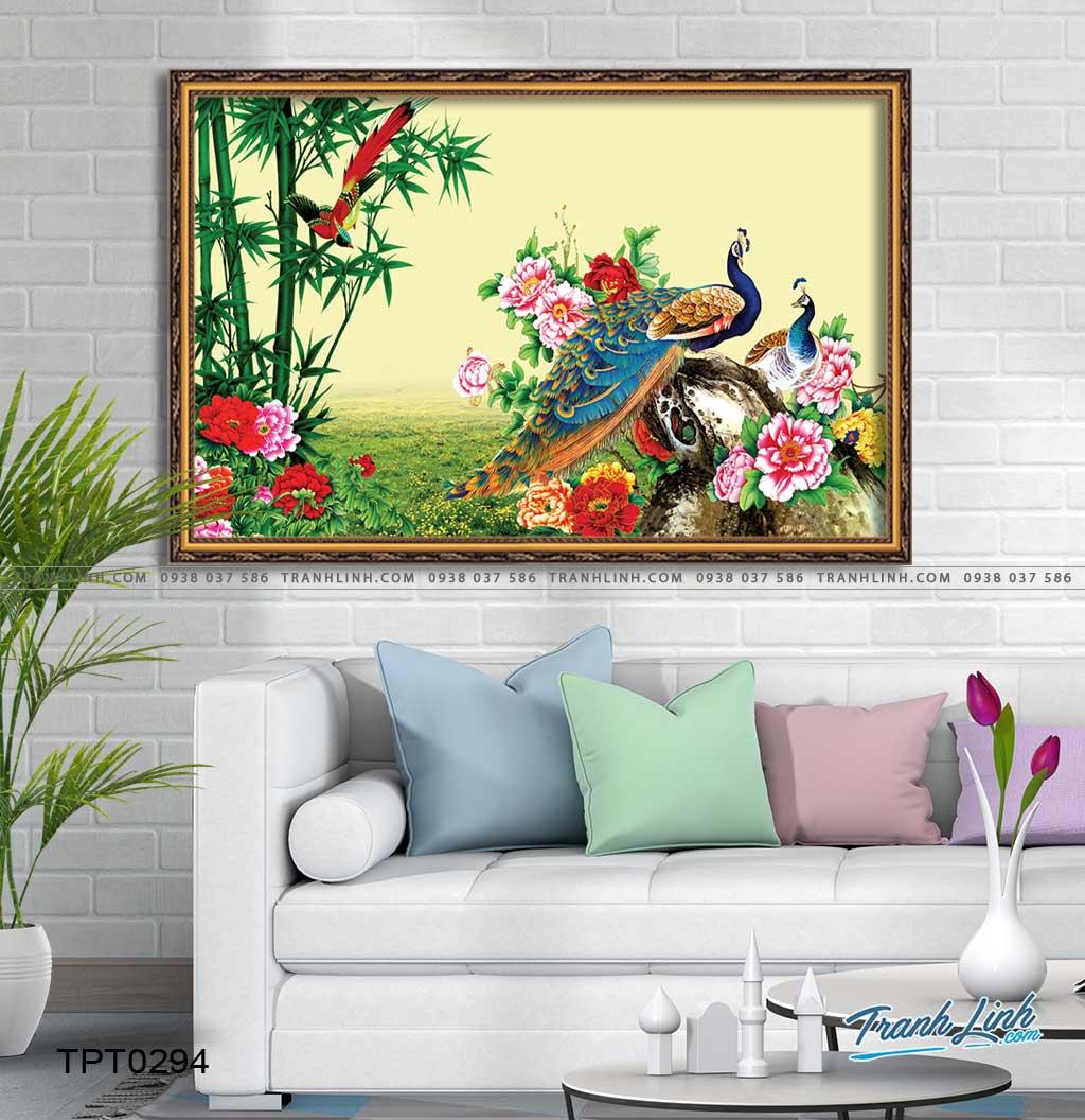 tranh canvas chim cong vuong gia 26