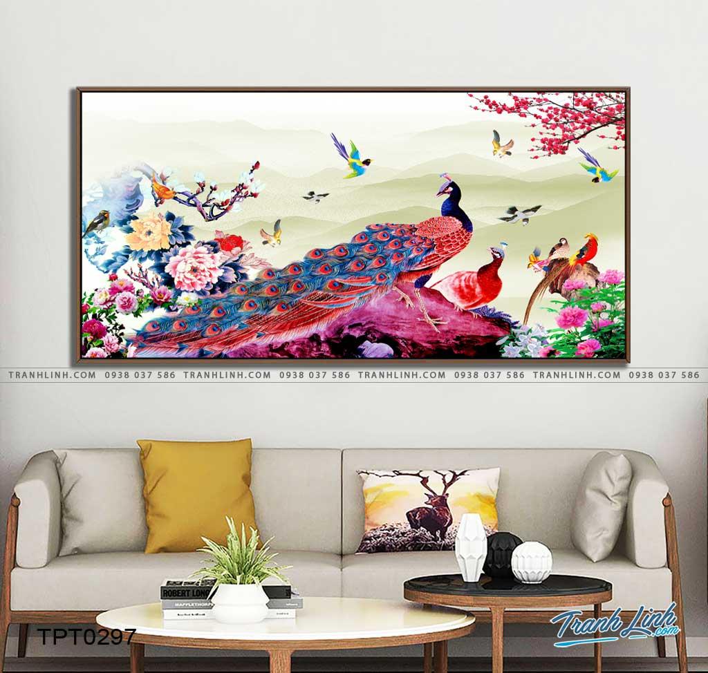 tranh canvas chim cong vuong gia 29