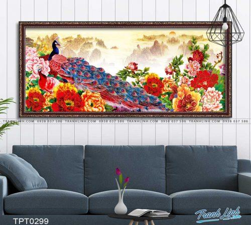 tranh canvas chim cong vuong gia 31