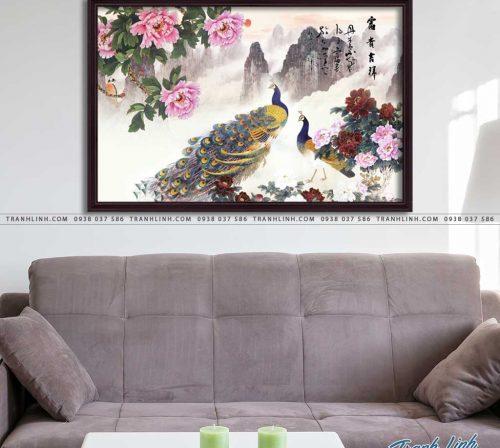 tranh canvas chim cong vuong gia 37