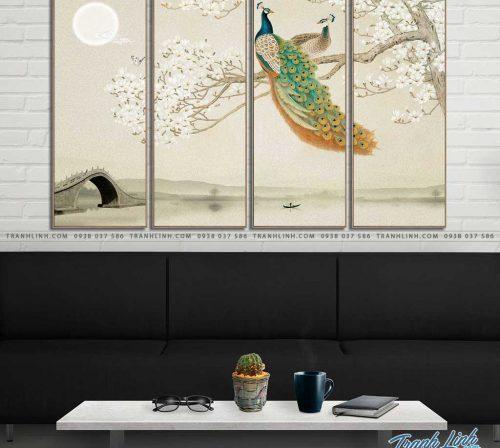 tranh canvas chim cong vuong gia 41
