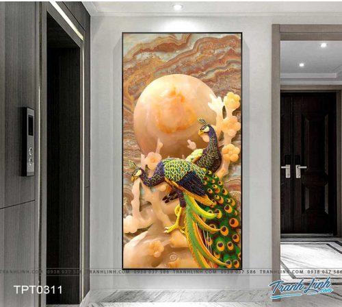 tranh canvas chim cong vuong gia 43