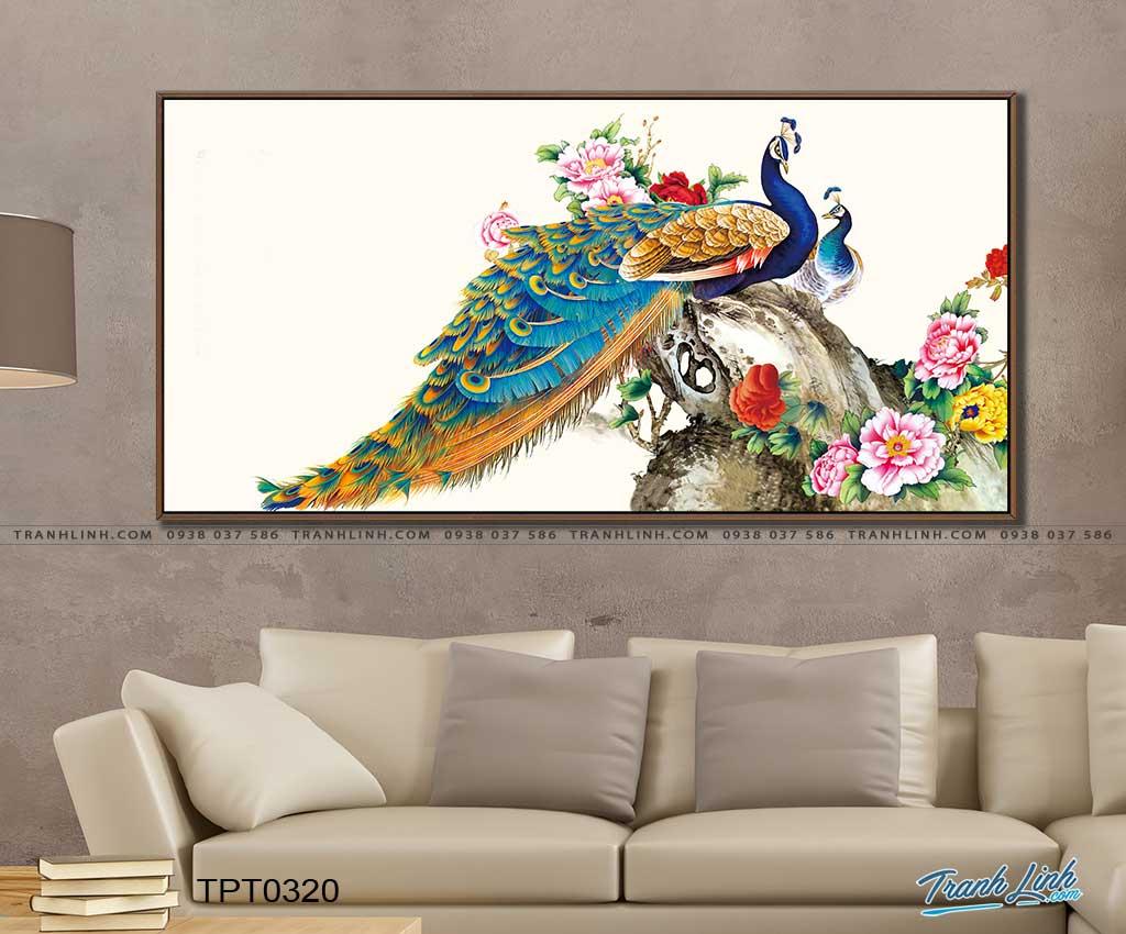 tranh canvas chim cong vuong gia 52