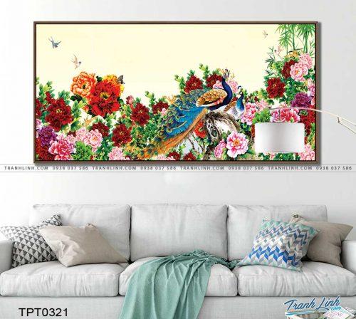 tranh canvas chim cong vuong gia 53
