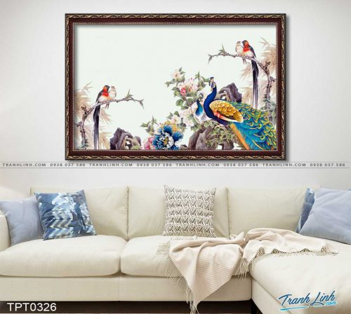 tranh canvas chim cong vuong gia 58