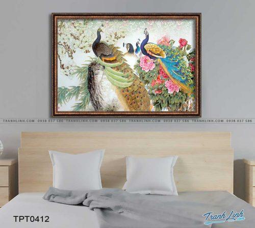 tranh canvas chim cong vuong gia 61