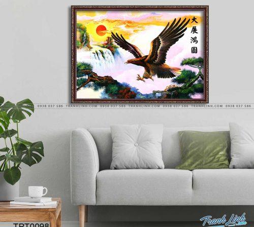 tranh canvas chim dai bang 20