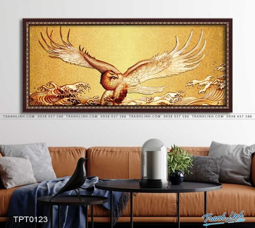tranh canvas chim dai bang 27