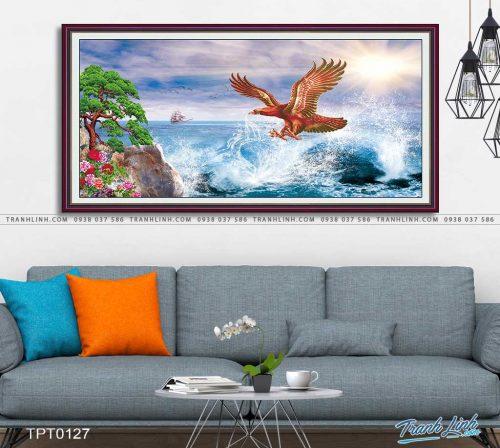 tranh canvas chim dai bang 28