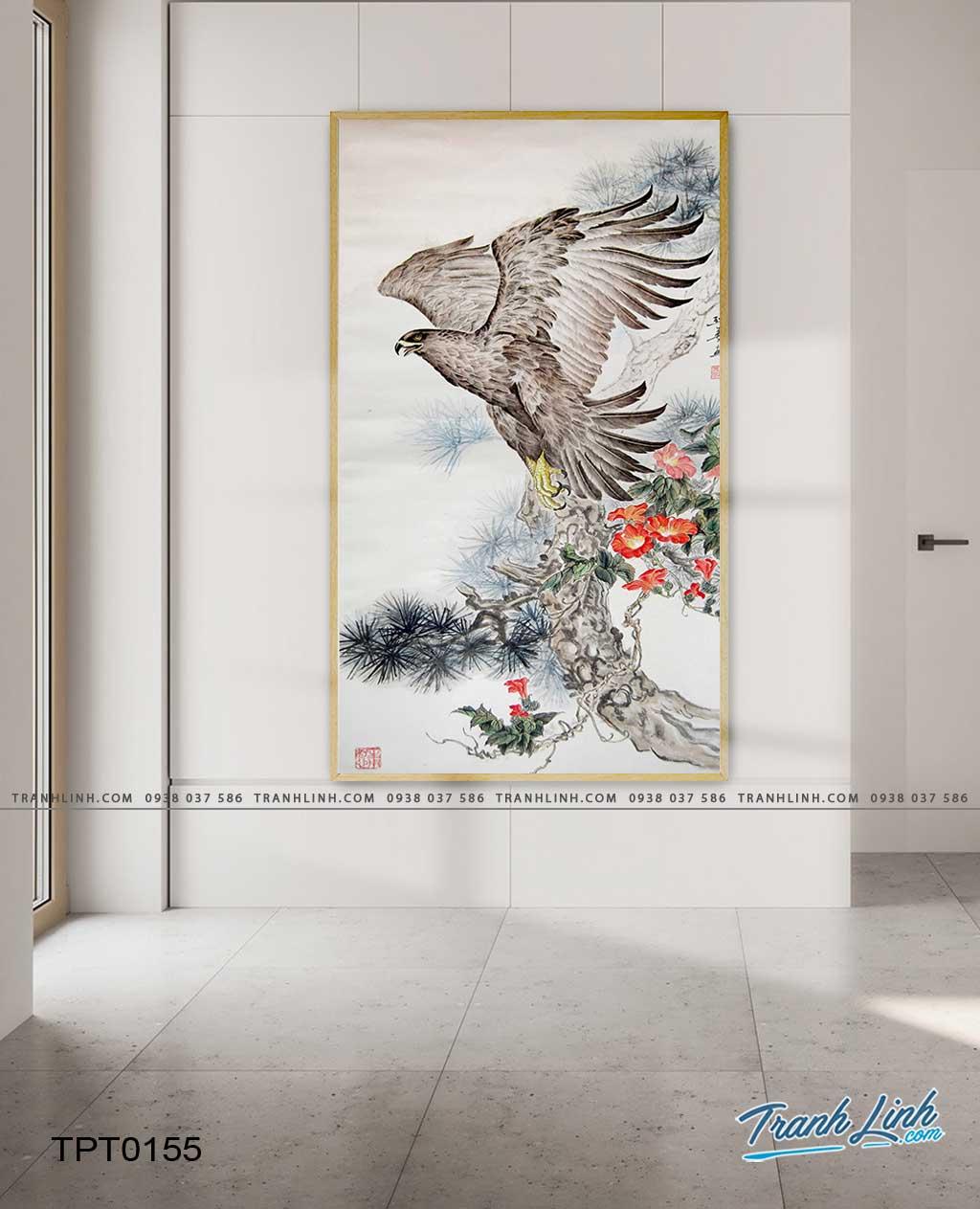 tranh canvas chim dai bang 34