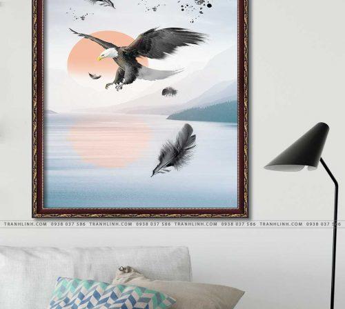 tranh canvas chim dai bang 35