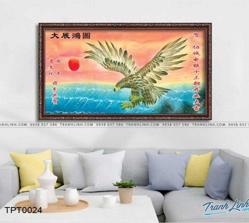 tranh canvas chim dai bang 4