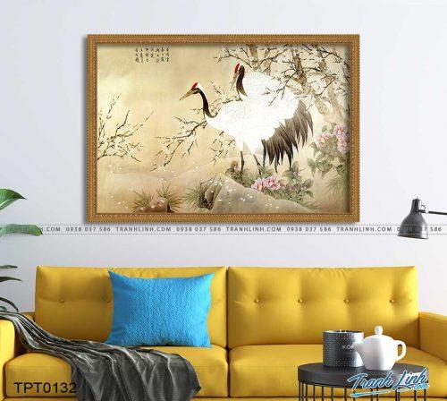 tranh canvas chim hac 16