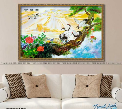 tranh canvas chim hac 19