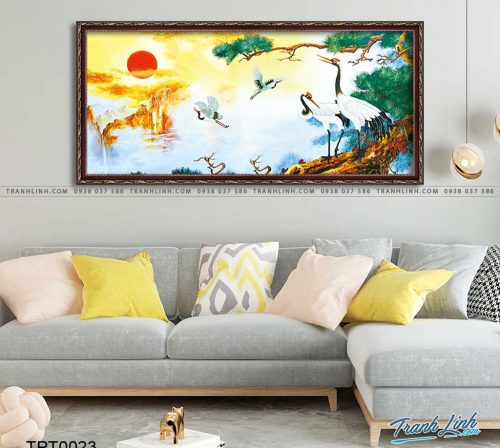 tranh canvas chim hac 2
