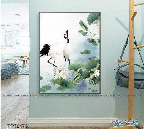 tranh canvas chim hac 21