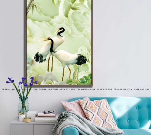 tranh canvas chim hac 25