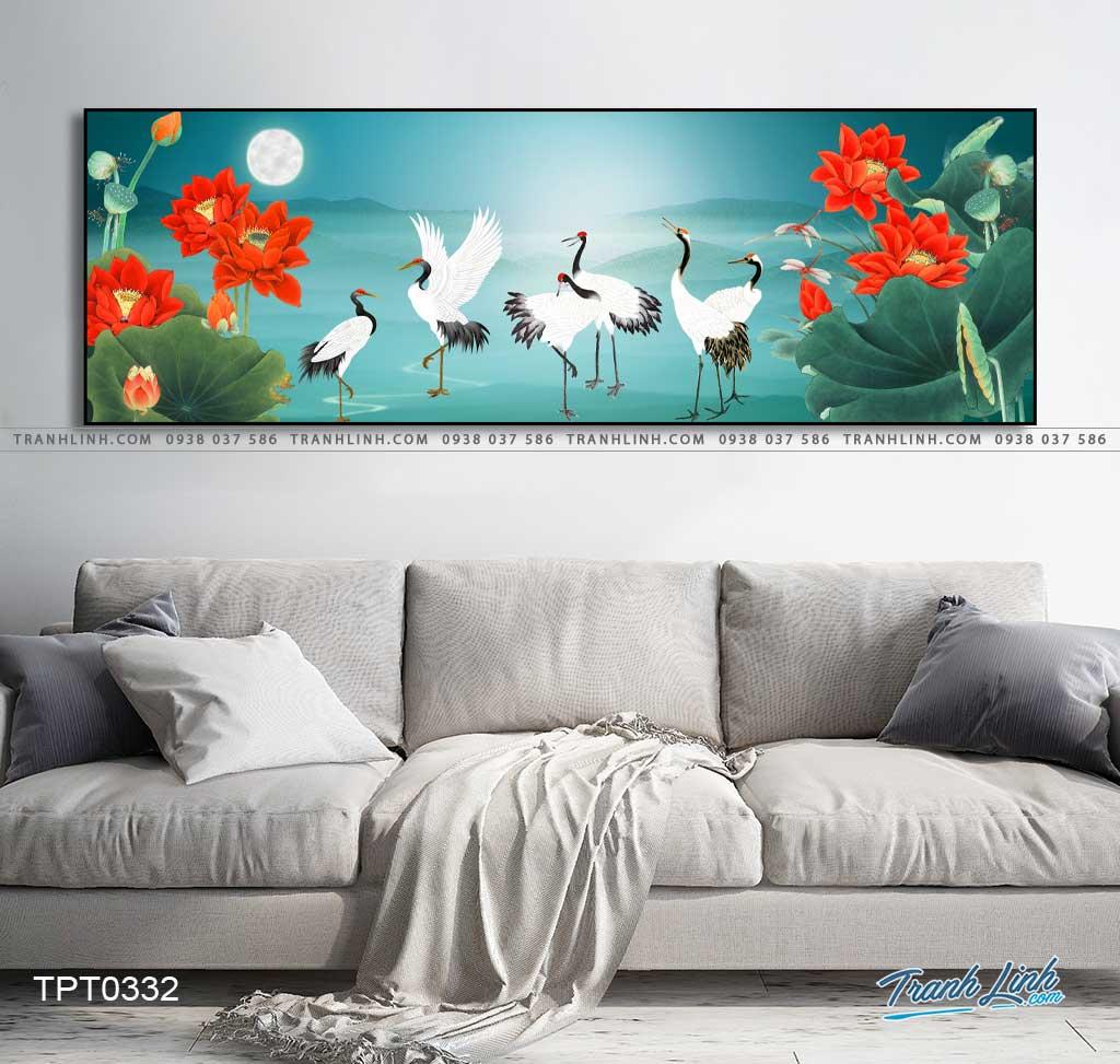 tranh canvas chim hac 28