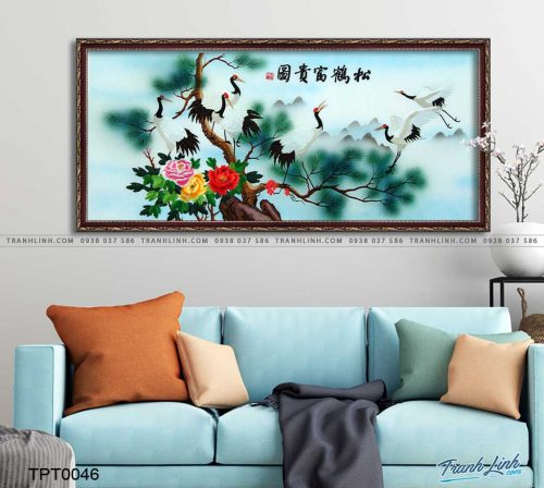 tranh canvas chim hac 3