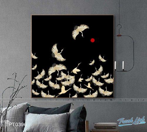 tranh canvas chim hac 31