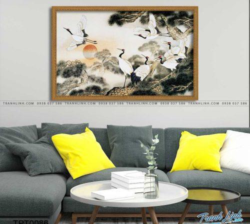 tranh canvas chim hac 6