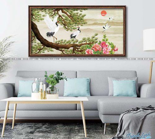 tranh canvas chim hac 9