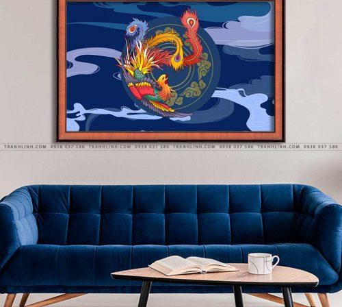 tranh canvas chim phuong hoang 1