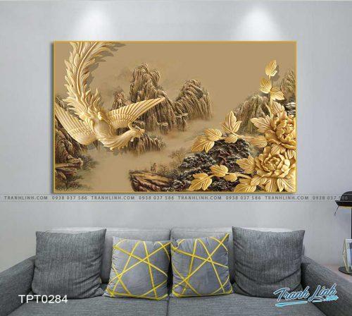 tranh canvas chim phuong hoang 2