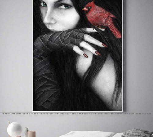 tranh canvas co gai 433