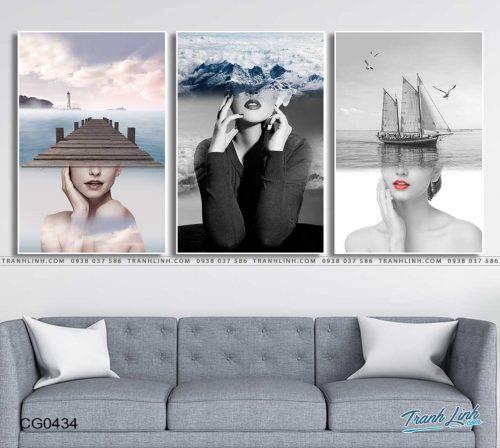 tranh canvas co gai 434