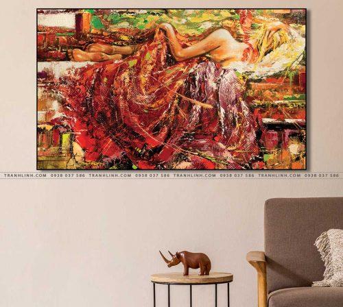 tranh canvas co gai 462