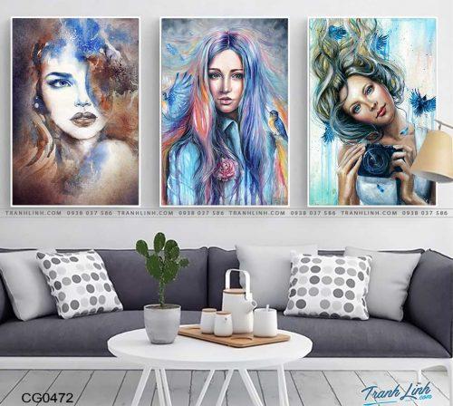 tranh canvas co gai 472