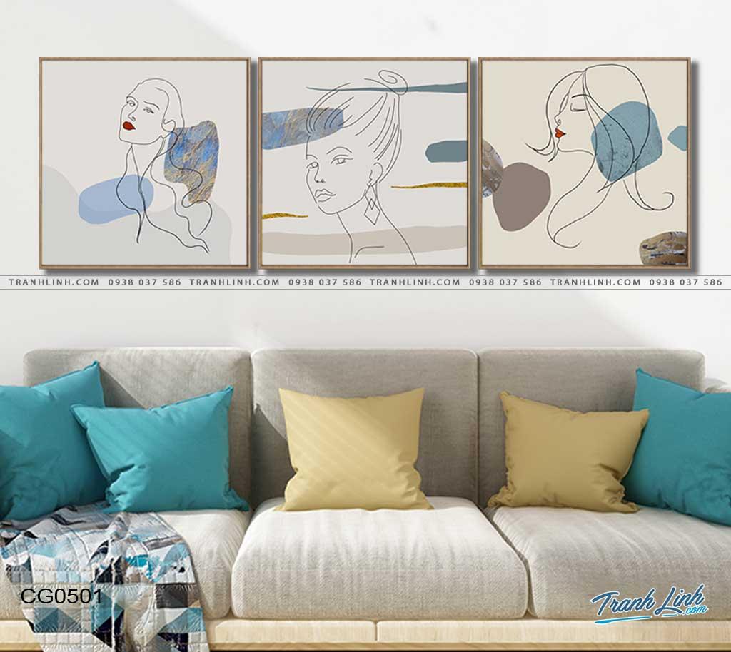 tranh canvas co gai 501