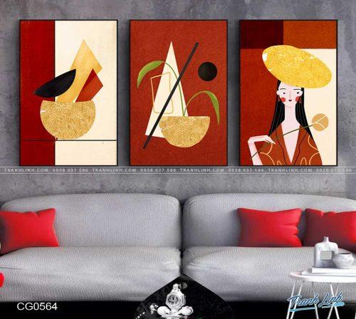 tranh canvas co gai 564