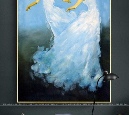tranh canvas co gai 578