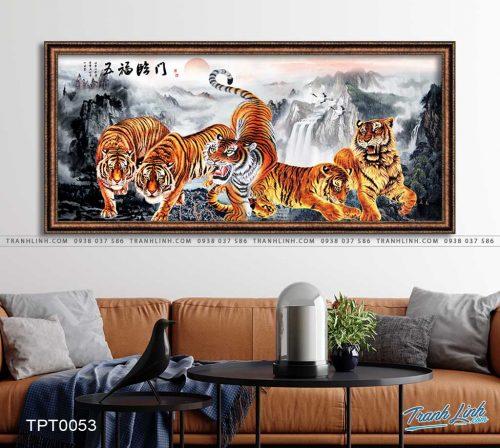 tranh canvas ho 10