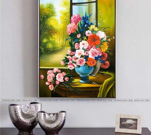 tranh canvas hoa 1054