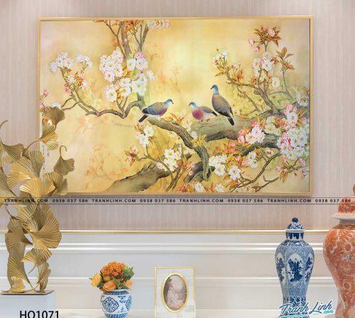 tranh canvas hoa 1071