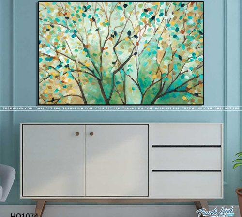 tranh canvas hoa 1074