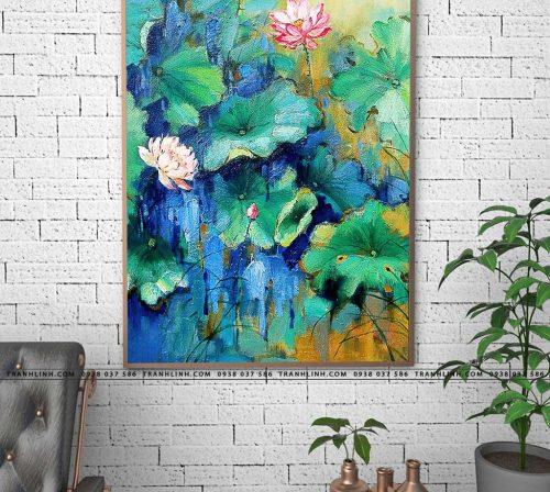tranh canvas hoa 1075