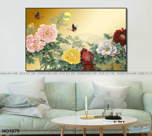 tranh canvas hoa 1079