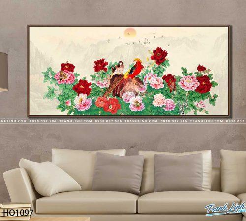 tranh canvas hoa 1097