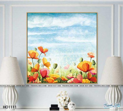 tranh canvas hoa 1111